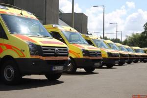 Az átadott mentőautók